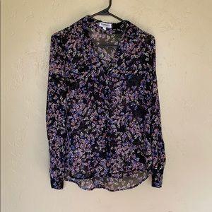Express Black Ditsy Floral The Portofino Shirt